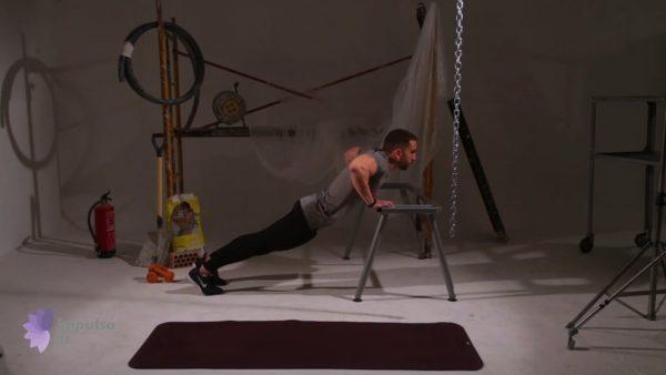 Flexiones tonificar abdominales y triceps