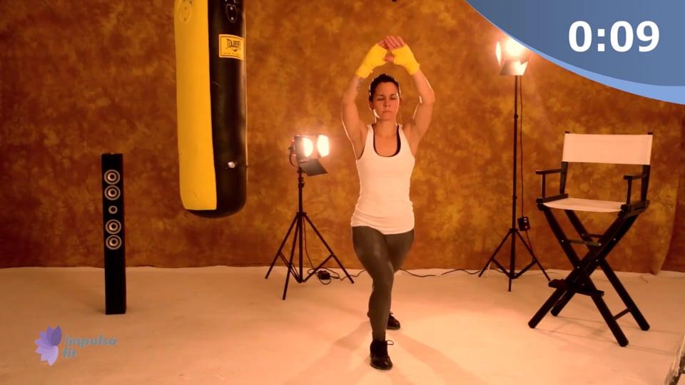 Vídeo 4: Entrenamiento Cardio Box en rutina de 20 minutos para tonificar abdomen y piernas
