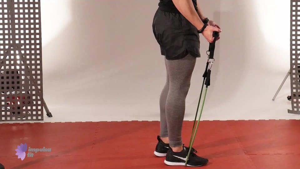 Vídeo 4: Entrenamiento con Gomas Elásticas en Circuito de Lunge, Remo, Bíceps y Sentadillas