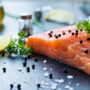 Filet de salmón a las hierbas
