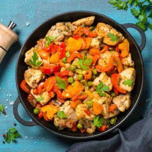 Pollo Stir Fry con Verduras
