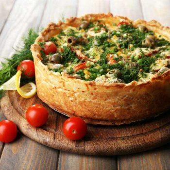 Pastel de Brócoli con Verduras Ideal para Dos